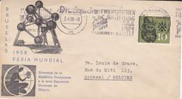 EXPO 58 - Bruselas 1958 Feria Mundial - Homenaje De La Republica Dominicana - Covers & Documents