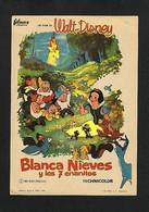 Affichette Du Film BLANCHE NEIGE ET LES SEPT NAINS. Walt Disney (10 X 14,2 Cms) - Afiches & Pósters