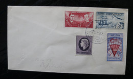 New Zealand Ross Dep L5-8 Decimal Currency Shackleton & Scott Map Ship Endeavour Scott Base Day Issue Cancel 1967 A04s - Covers & Documents