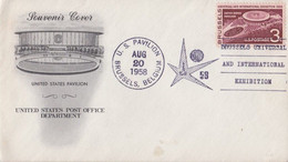EXPO 58 - Brussels Universal And International Exhibition / U.S. Pavillon AUG 20 1958 / Souvenir Cover - Covers & Documents