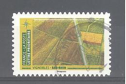 France Autoadhésif Oblitéré N°1942 (Mosaïque De Paysages - Vignobles Bas-Rhin) (cachet Rond) - Gebruikt
