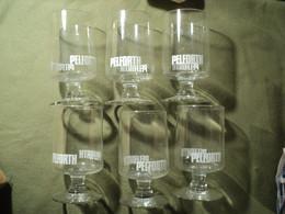 LOT DE 6 VIEUX VERRES A BIERE PELFORTH - Glasses