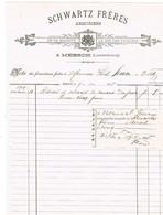 Luxembourg Facture Esch/Alzette SchwartzFrères Armuriers. à Mersch 1905 - Unclassified