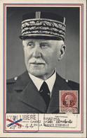 CM Carte Maximum Pétain Gardez Votre Confiance En La France éternelle Guerre 39 45 Libération Rhône Alpes Mayer N°11 - 1940-49