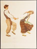 USSR 1957 Malunelis Young Man Girl Lithuania Dancing - Children's Drawings