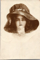 France 1910s Lady Girl Hat Clipped Glamor - Fashion