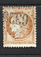 945 Cérès YT 38 Très Belle Oblitération Losange Gros Chiffre 6325 Marseille Cours Du Chapitre (12) - 1871-1875 Ceres