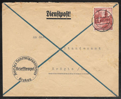 Poland - 1941 General Government Official Cover - Krakau / Crakow Postmark - Gouvernement Général