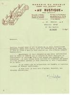 Facture - Reçu : Courrier Magasin Du Meuble à Honfleur & Beuzeville , 25 Février 1958 . Client Le Havre. - Switzerland