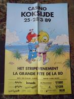 Scrameustache Affiche Promotionnelle Koksijde1989 Format 43 X 61 Gos Bon Etat - Affiches & Offsets