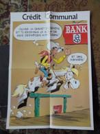 Lucky Luke  Affiche Promotionnelle Credit Communal Format 37 X 52 Morris Bon Etat - Affiches & Offsets