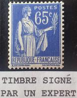 R1491/427 - 1937/1939 - TYPE PAIX - N°365c (III) NEUF** LUXE - TRES BON CENTRAGE ➤➤➤ Signé CALVES Expert - 1932-39 Paz