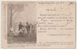 CPA   Vittel  (88)  Carte D'expédition De L'eau Minérale (vers La Belgique)  1901 - Vittel Contrexeville