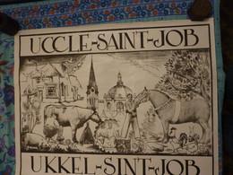Uccle Affiche Saint Job Uccle 1970 Belgique Concour Agricole Très Grande 1180 - Other