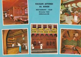 Jerusalem - Restaurant - Bar - Oriental Hal - Hassan Affendi Al Arabi - Formato Grande Non Viaggiata – FE190 - Unclassified