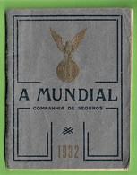 Lisboa - Calendário De 1933 Da Companhia De Seguros A Mundial - Agenda De 1932 - Insurance - Portugal (faltam 2 Meses) - Big : 1941-60