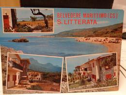 Cartolina Belvedere Marittimo, S.Litterata Prov Cosenza  Spiaggia, Vedutine - Cosenza