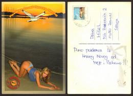 Montenegro Beach Girl Nice Stamp  #29099 - Montenegro