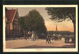 AK Heide I. H., Wettersäule Am Marktplatz - Unclassified