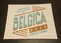 ETIQUETTE  MICRO BRASSERIE BELGICA BINCHE TRIPLE - Beer