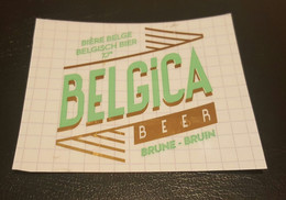 ETIQUETTE  MICRO BRASSERIE BELGICA BINCHE BRUNE - Beer