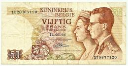 Belgium - 50 Francs - 16.05.1966 - Pick 139 - Sign. 21 - Serie 1520 W - King Baudouin I & Queen Fabiola Belgie Belgique - Other