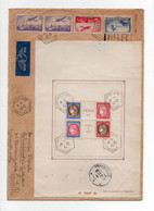Enveloppe  -   Par Avion  PARIS Pour  La TCHECOSLOVAQUIE -  Affr . BF N° 3 PEXIP PARIS 1937 + Paire  PA N° 11 + N° 311 - 1921-1960: Periodo Moderno