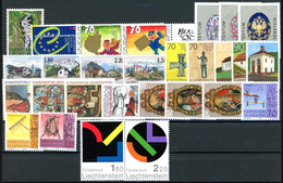 Liechtenstein Jahrgang 2001 MiNr. 1255-82 Postfrisch MNH (L865 - Full Years