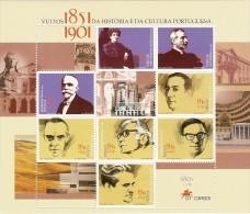 Portugal ** & Vultos Da História E Da Cultura Portuguesa 2001 (15) - Blocks & Sheetlets