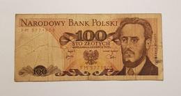 Billet 100 Zlotych- NARODOWY BANK POLSKI- 1979 ** P# 143 -Pologne - Poland
