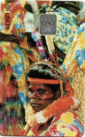 Vanuatu (ex Nouvelles Hebrides Hebrids) Telecarte Puce Phonecard Chip Femme Numerotee Tirage 4000 Date 11/98 TBE - Vanuatu