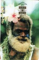 Vanuatu (ex Nouvelles Hebrides Hebrids) Telecarte Puce Phonecard Chip Homme Numerotee Noir Tirage 4000 Date 11/98 TBE - Vanuatu