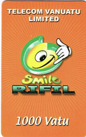Vanuatu (ex Nouvelles Hebrides Hebrids) Telecarte Prepaye Prepaid Phonecard 1000 Va Smile Rifil Ut BE - Vanuatu