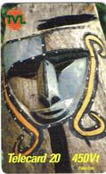 Vanuatu (ex Nouvelles Hebrides Hebrids) Telecarte Prepaye Prepaid Phonecard 455 Vt Masque Sculpture Ut BE - Vanuatu