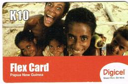 Png Papouasie Papoua New Guinea Telecarte Prepaye Prepaid Phonecard K 10 Enfant Sourire Digicel Ut BE - Papua New Guinea