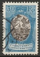 Liechtenstein 1925 Sc 81  Used Perf 9.5 Torn Perfs On Left - Used Stamps