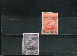 Cap Vert 1938 Yt 1-2 * Poste Aérienne - Cape Verde