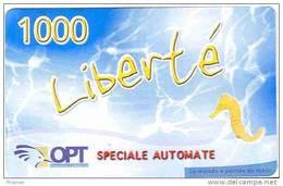 Caledonie Caledonia Telecarte Phonecard Liberte NOUVELLE Speciale Automate, 1000 F, TBE - New Caledonia