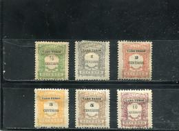 Cap Vert 1921 Yt 21-25 27 * Timbres-taxe - Cape Verde