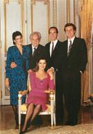 "CPSM FAMILLE ROYALE MONACO ""Le Prince Rainier III - Prince Albert - Princesse Caroline - Princesse Stéphanie"" - Royal Families"