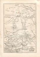 Original Antique Print 1860 Map Africa Sudan Sahara Tuareg Traveler Heinrich Barth - Geographical Maps