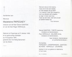 Madeleine Papegaey (1909-1997) - Devotion Images
