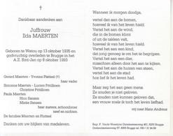 Ilda Maerten (1935-1993) - Devotion Images