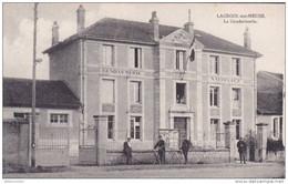 Cpa 55 Lacroix Sur Meuse La Gendarmerie Non Voyagée - Non Classés