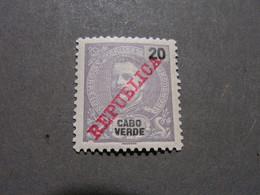 Cabo Verde - 1911 D. Carlos 20 R - Af. 90 - MH  Falz LH - Cape Verde