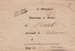 "PARIS ENV 1843 PARIS CONTRESEING "" Ministère / De La Guerre "" VERSO ARRIVEE T12 LORIOL DROME - 1801-1848: Precursors XIX"