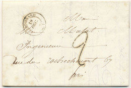 SEINE LAC 1842 VAUGIRARD T14 + TAXE 2 - 1801-1848: Précurseurs XIX