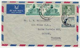 Sri Lanka // Ceylan // Lettre Pour Saigon 1956 - Sri Lanka (Ceylon) (1948-...)