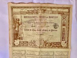 S.A.  HOUILLÈRES  &  MINES  Du  MORVAN  --------Action  De  500 Frs - Bergbau