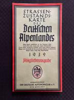 Carte Des Alpes Allemande 1939 Militaria III Reich Allemand WW2 39-45 Laurent1978 - 1939-45